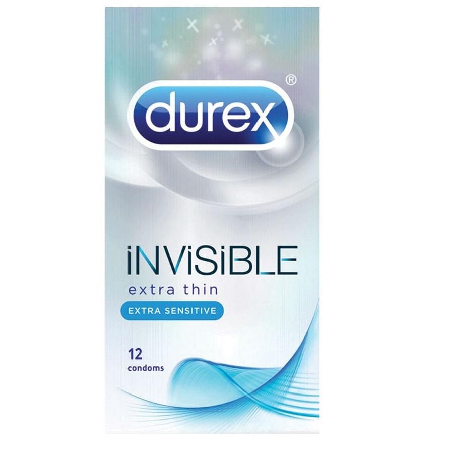 DUREX Invisible Extra Thin, Πολύ Λεπτά Προφυλακτικά - 12τμχ