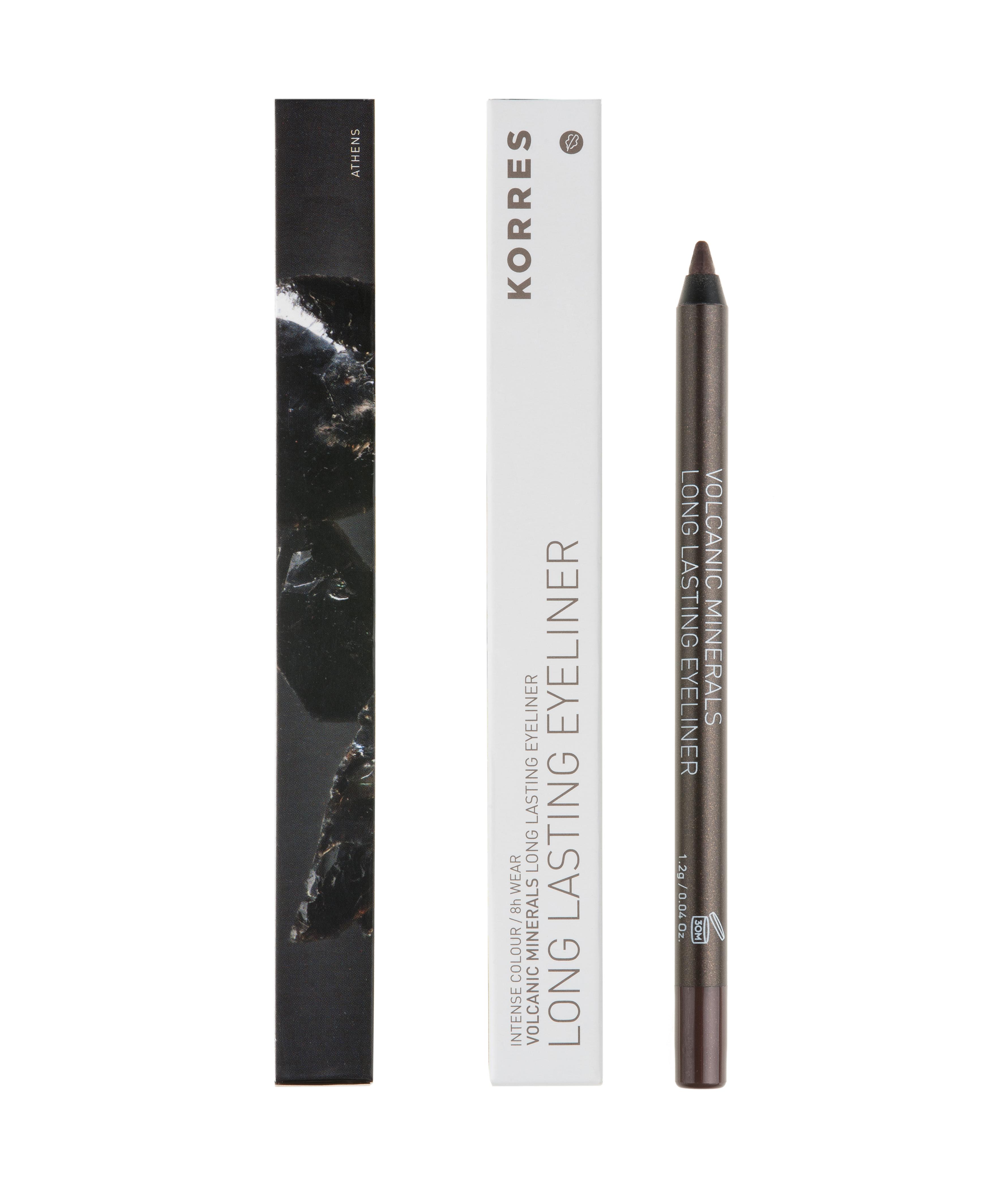 KORRES Long Lasting Eyeliner, Volcanic Minerals 02 Brown - 1.2g