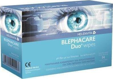 HELENVITA Blephacare Duo Μαντηλάκια Μιας Χρήσης 14τμχ