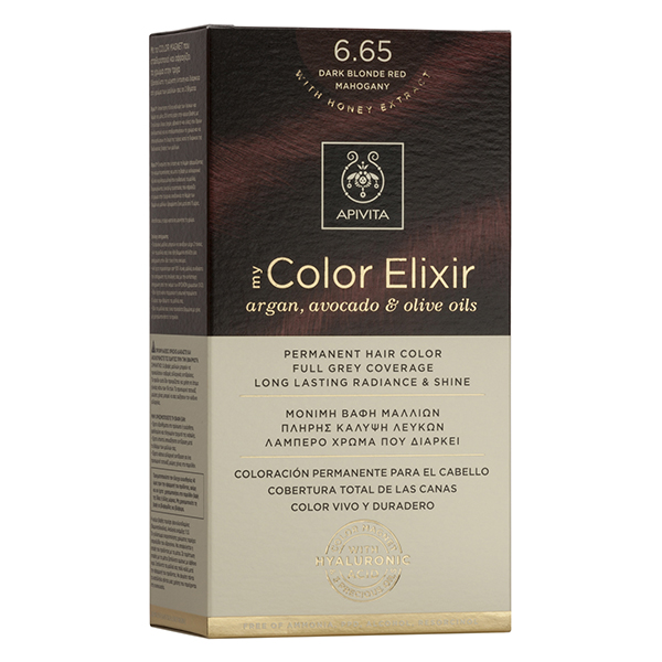 APIVITA My Color Elixir, Βαφή Μαλλιών No 6.65 - Έντονο Κόκκινο