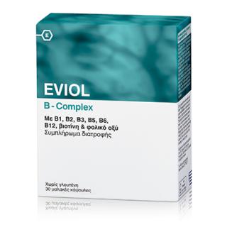 EVIOL B-COMPLEX Σύμπλεγμα Βιταμινών Β 30 Κάψουλες