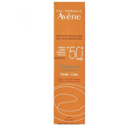 AVENE Cleanance Solaire SPF50+ Teinte, Αντηλιακή Κρέμα με Χρώμα για Πρόσωπο με Τάσεις Ακμής - 50ml