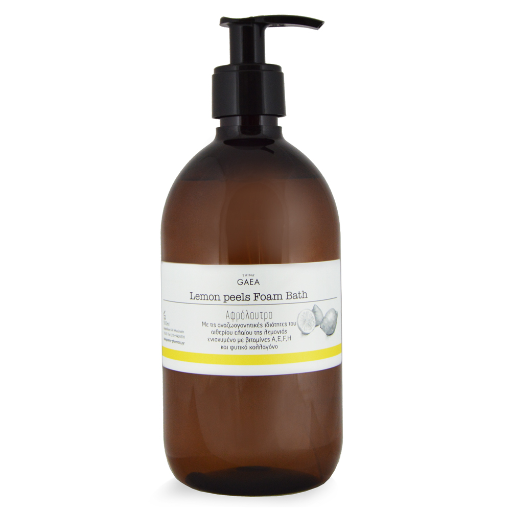 THINK GAEA Lemon Peels Foam Bath Αφρόλουτρο 500ml