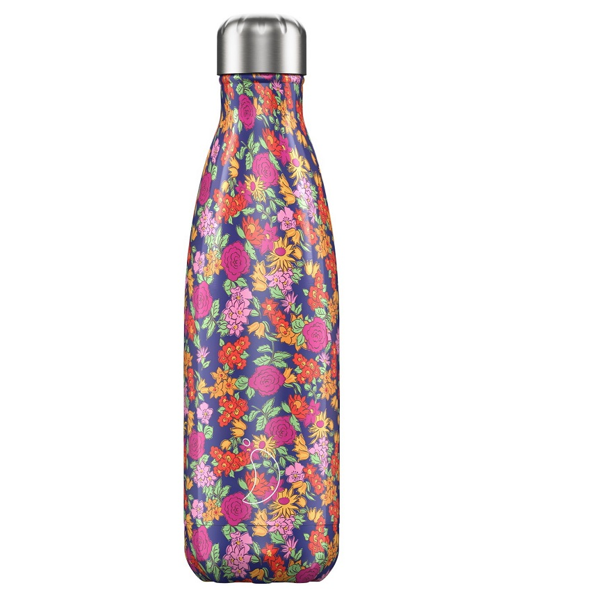 CHILLYS BOTTLES Μπουκάλι- Θερμός Wild Rose Floral Edition - 500ml