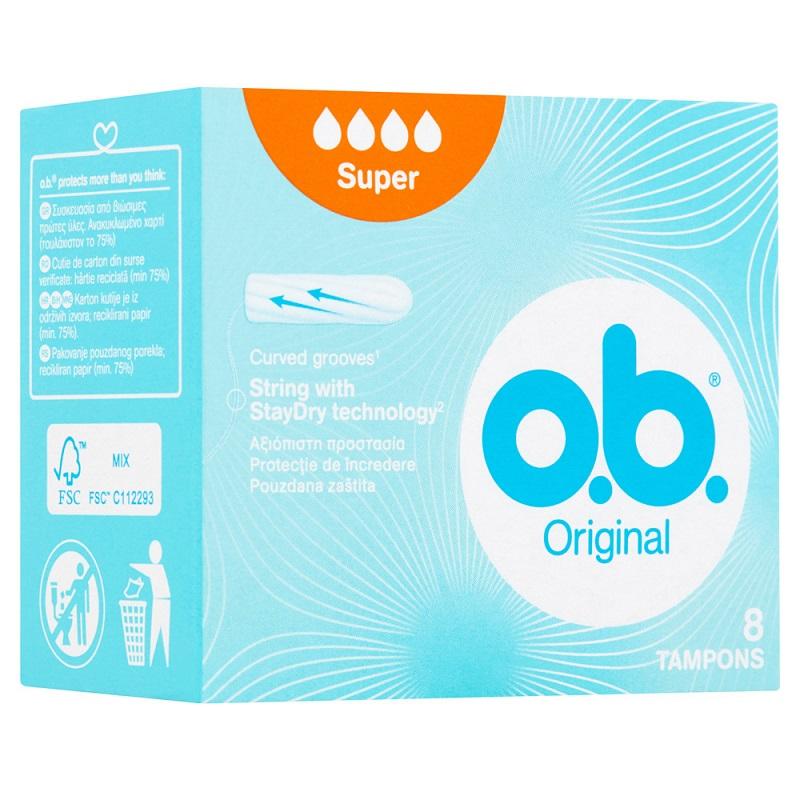 O.B.Original Super, Ταμπόν για Μεγάλη Ροή - 8τμχ
