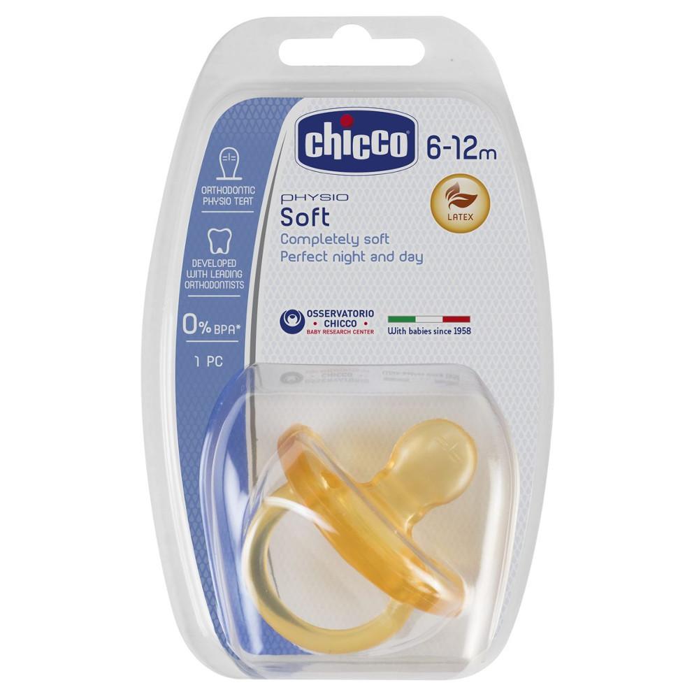 CHICCO Physio Soft Πιπίλα Όλο Καουτσούκ 6-12m