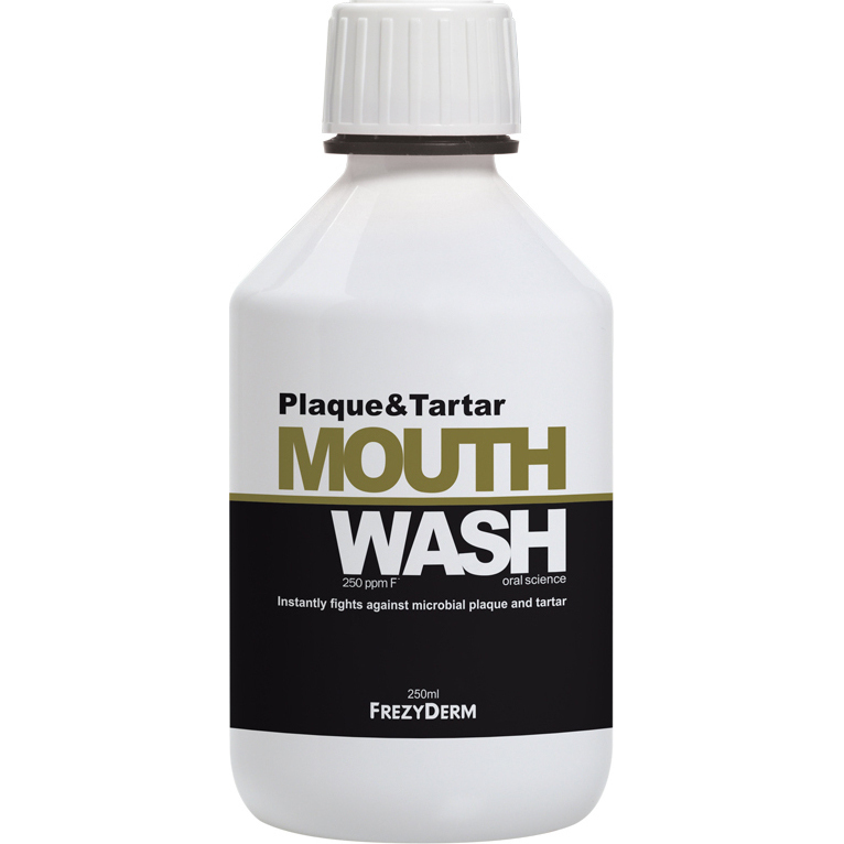 FREZYDERM  Plaque & Tartar Mouthwash, Στοματικό Διάλυμα με Φθόριο - 250ml