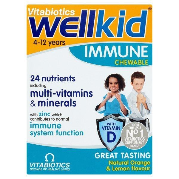 Vitabiotics Wellkid Immune 30 Chewable Tablets