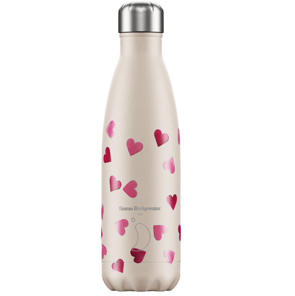 CHILLYS BOTTLES Μπουκάλι- Θερμός Emma Bridgewater Pink Hearts - 500ml