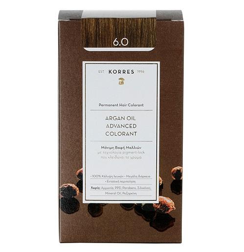 KORRES Βαφή Argan Oil 6.0 Ξανθό Σκούρο Φυσικό - 50ml