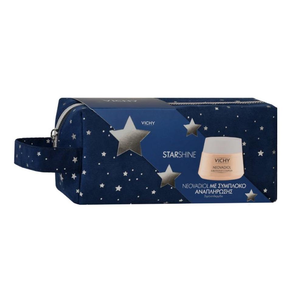 VICHY Starshine Neovadiol με Σύμπλοκο Αναπλήρωσης για Ξηρή Επιδερμίδα - 50ml Με Δώρο Γιορτινό Νεσεσέρ