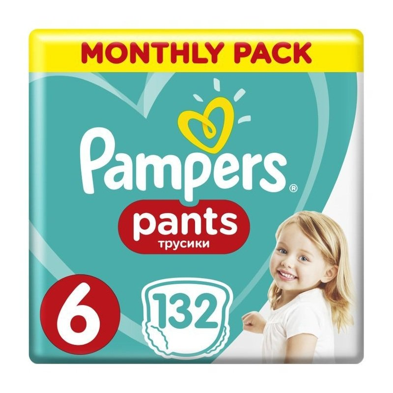 PAMPERS Pants Νο 6 16kg+ Monthly Pack 132τμχ
