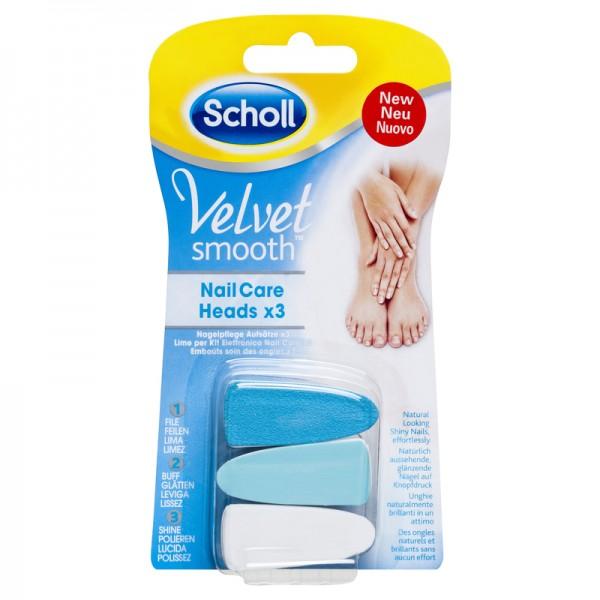 SCHOLL Velvet Smooth Ανταλλακτικές Κεφαλές Ηλεκτρικού Συστήματος Περιποίησης Νυχιών 3τμχ