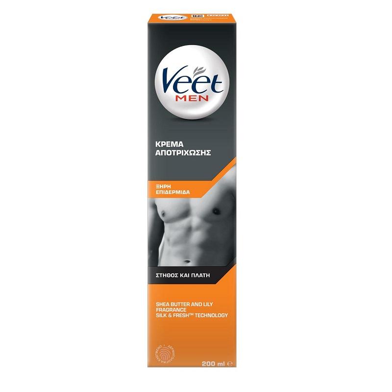 VEET For Men Αποτριχωτική Κρέμα για Ξηρή Επιδερμίδα - 200ml