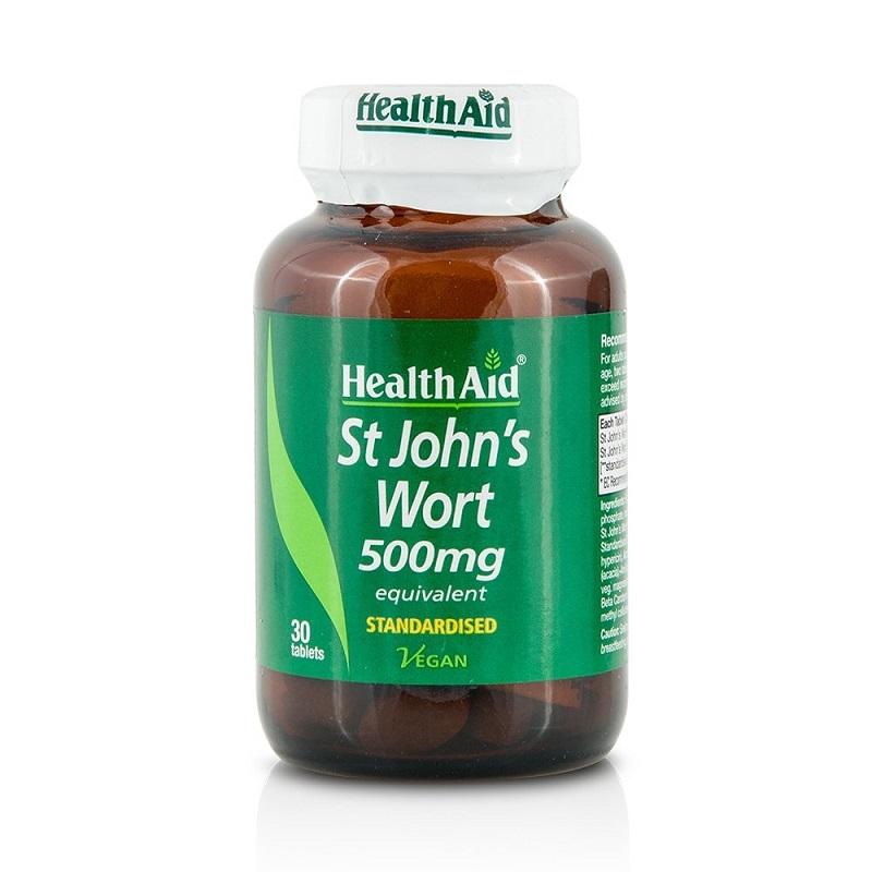 HEALTH AID St Johns Wort 500mg - 30tabs