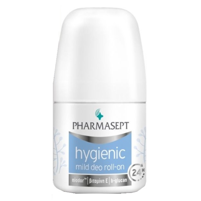 PHARMASEPT Hygienic Mild Deo Roll-on 24h, Απαλό Αποσμητικό για Ευαίσθητες Επιδερμίδες - 50ml