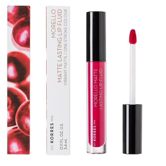 KORRES Morello Matte Lasting Lip Fluid, 29 Strawberry Kiss - 3.4ml