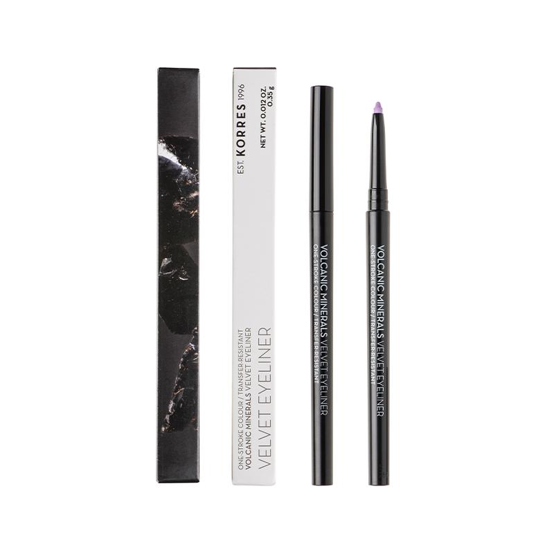 KORRES Volcanic Minerals Velvet Eyeliner, 73 Lavender Sorbet - 35gr