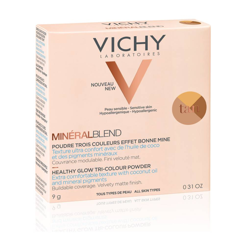 VICHY MineralBlend Healthy Glow Tri-Color Powder, Τρίχρωμη Πούδρα Tan -9gr
