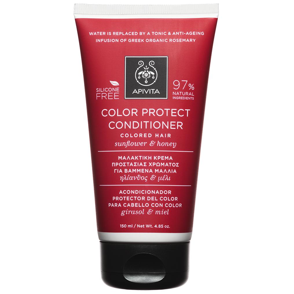 APIVITA Κρέμα Προστασίας Χρώματος για Βαμμένα Μαλλιά με Ηλίανθο & Μέλι 150ml