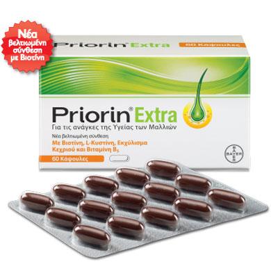 PRIORIN Extra, Συμπλήρωμα Διατροφής Κατά της Τριχόπτωσης - 60caps