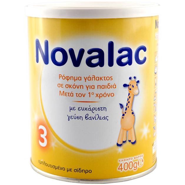 NOVALAC 3 Ρόφημα Γάλακτος Σε Σκόνη Για Παιδιά 1- 3 Ετών, Γεύση Βανίλιας - 400γρ