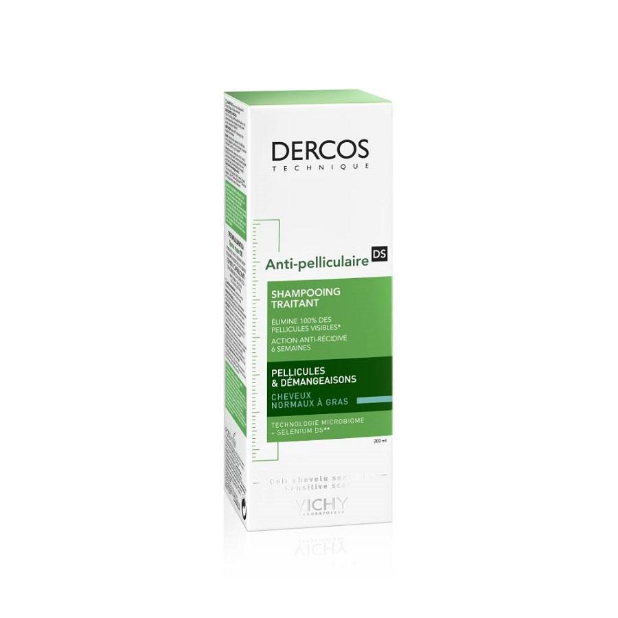 VICHY Dercos Anti Dandruff, Αντιπυτιριδικό Σαμπουάν για Κανονικά-Λιπαρά Μαλλιά - 200ml