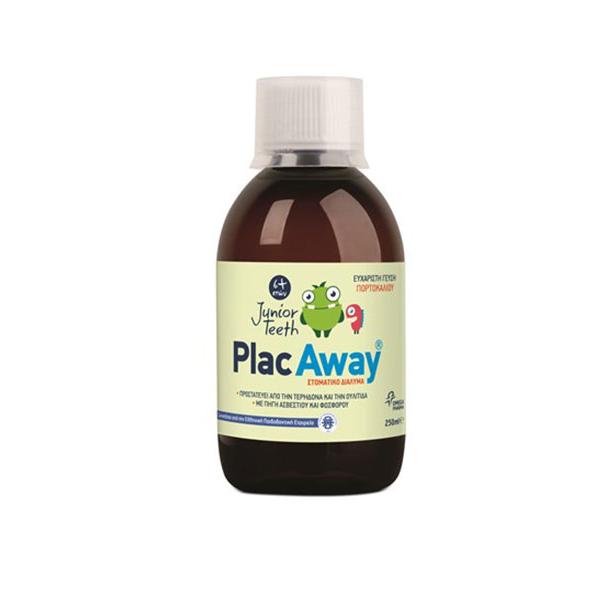 PLAC AWAY Junior Στοματικό Διάλυμα με Γεύση Πορτοκάλι 250ml