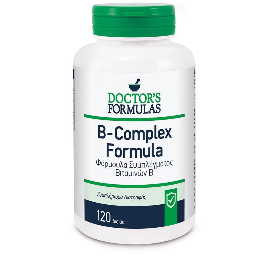 DOCTORS FORMULAS B- Complex Formula, Σύμπλεγμα Βιταμινών Β - 120tabs