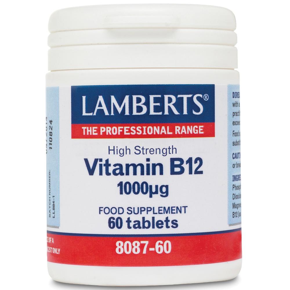 LAMBERTS Vitamin B12 1000mcg - 60tabs