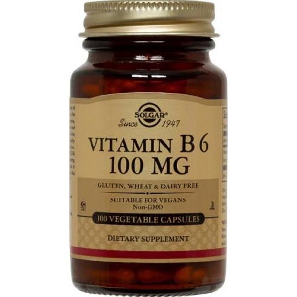 SOLGAR Vitamin Β6 100mg -100veg.caps