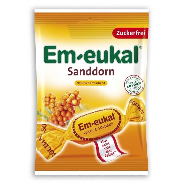 EM-EUKAL Καραμέλες με Iπποφαές Χωρίς Ζάχαρη - 75gr