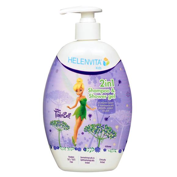 HELENVITA Kids Tinkerbell 2 in 1 Shampoo & Shower Gel, Παιδικό Σαμπουάν- Αφρόλουτρο - 500ml
