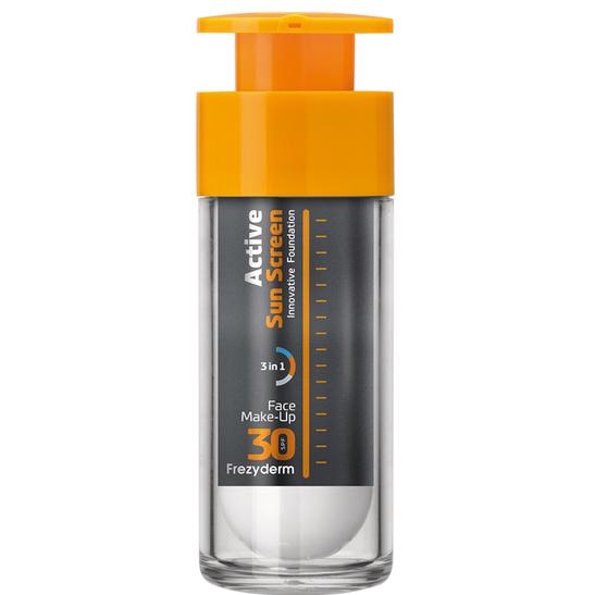 FREZYDERM Active Sun Screen, Αντηλιακό Make up Προσώπου SPF30 - 30ml
