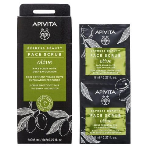 APIVITA Express Beauty Face Scrub Ελιά Βαθιάς Απολέπισης - 2x8ml