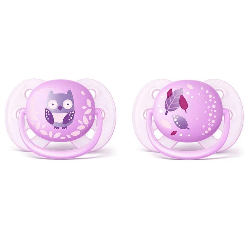PHILIPS AVENT Πιπίλα Ultra Soft 0-6m, Ροζ SCF227/20 - 2τεμ