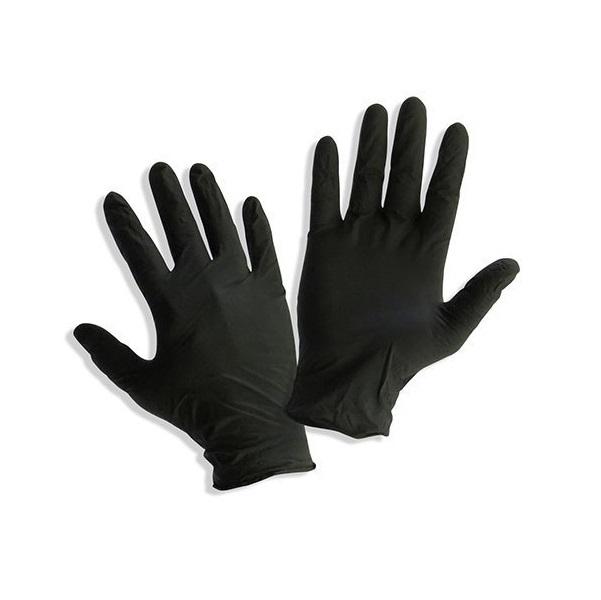 MAXTER Γάντια Νιτριλίου Μαύρα Μιας Χρήσης Χωρίς Πούδρα, Large - 100τεμ