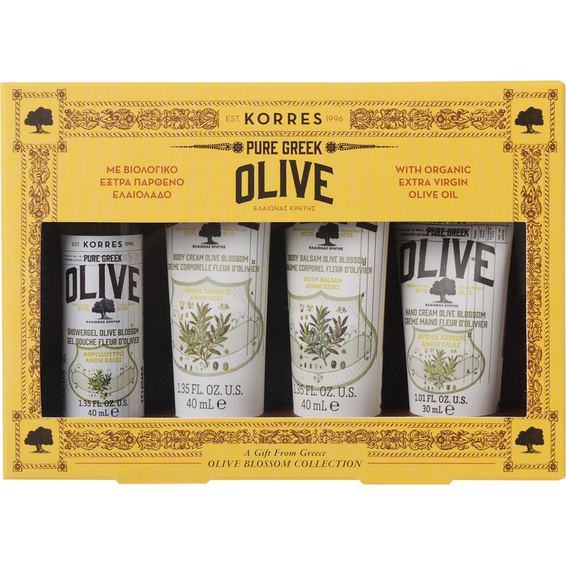 KORRES Pure Greek Olive Αφρολουτρο 40ml & Κρέμα Σώματος 40ml & Βάλσαμο Σώματος 40ml & Κρέμα Χεριών 40ml