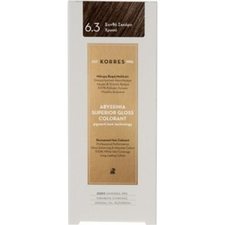 KORRES Βαφή Μαλλιών Abyssinia Superior Gloss Colorant Ξανθό Σκούρο Χρυσό 6.3 50ml