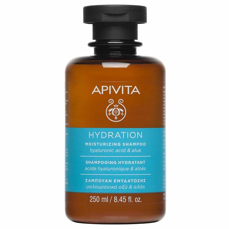APIVITA Hydration, Σαμπουάν Ενυδάτωσης Με Υαλουρονικό Οξύ & Αλόη - 250ml