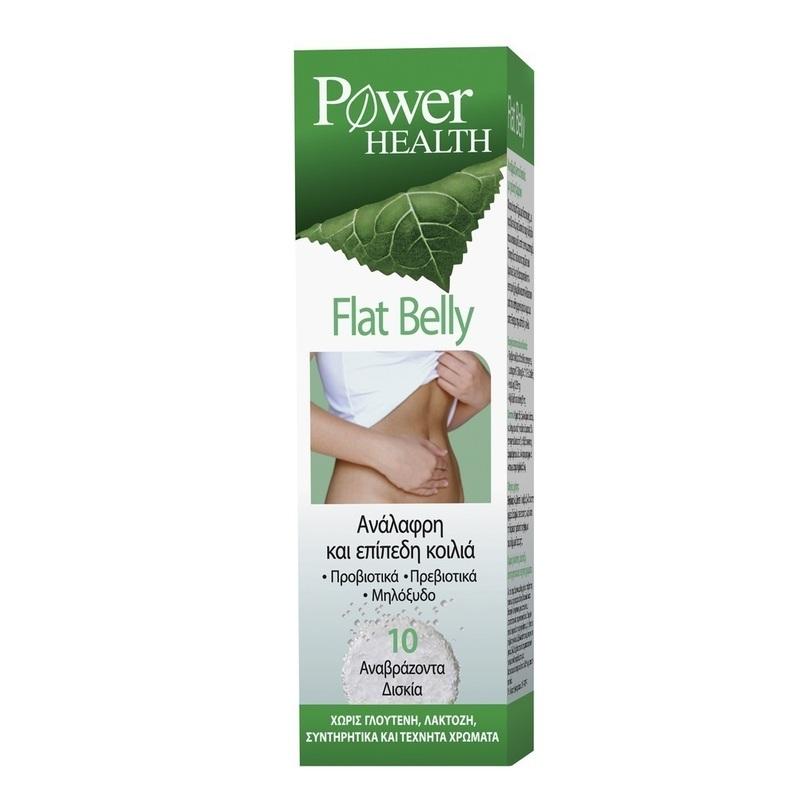 POWER HEALTH Flat Belly Αναβράζοντα Δισκία Με Γεύση Λεμόνι Για Ανάλαφρη & Επίπεδη Κοιλιά 10τμχ