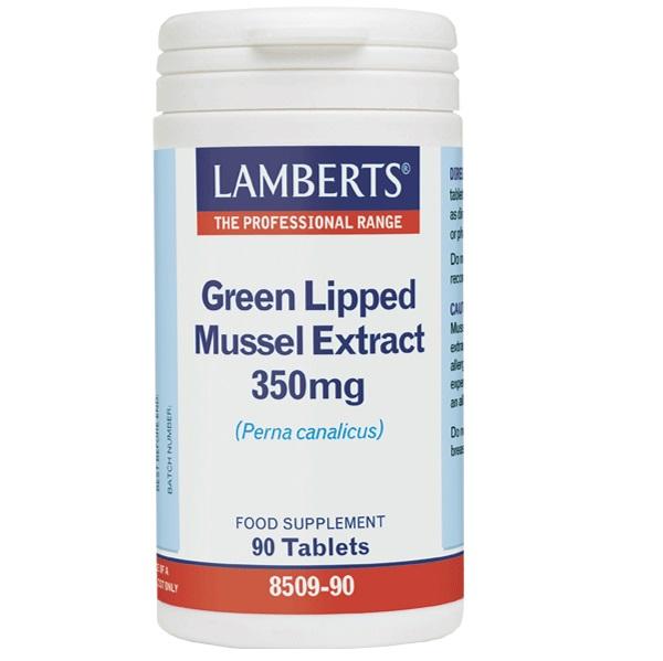 LAMBERTS Green Lipped Mussel Extract 350mg, Εκχύλισμα από Πρασινόχειλο Μύδι - 90tabs