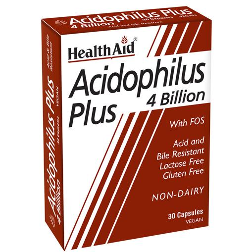 HEALTH AID Acidophilus Plus 4 Billion, Προβιοτικά - 30caps