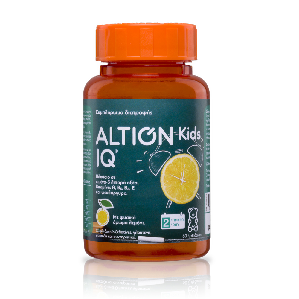 ALTION  Kids IQ  Ω-3 Λιπαρά Οξέα - 60 ζελεδάκια