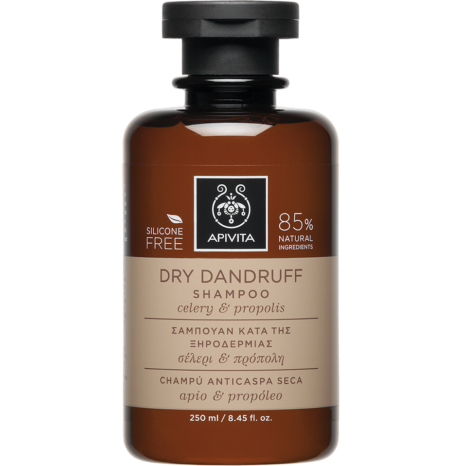 APIVITA Dry Dandruff - Σαμπουάν Κατά Της Ξηροδερμίας Με Σέλερι & Πρόπολη 250ml