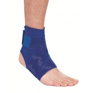 ADCO NEOPRENE ANKLE SUPPORT WITH WRAP Χ-LARGE ANKLE CIRCUMFERENCE 32-35CM 05403