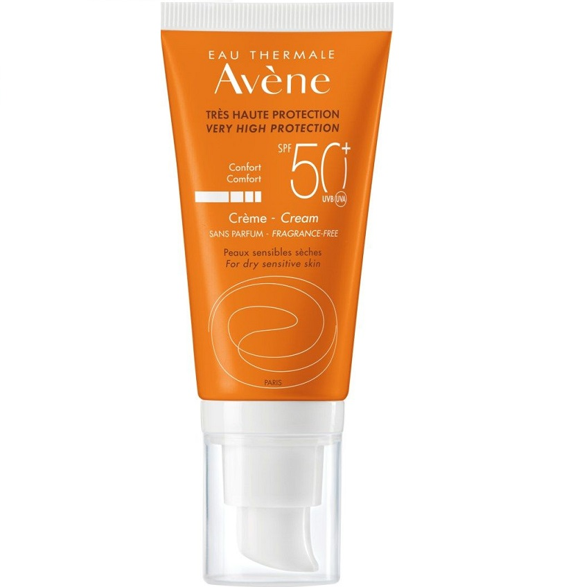 AVENE Creme Sans Parfum SPF50+, Αντηλιακή Κρέμα Χωρίς Άρωμα - 50ml