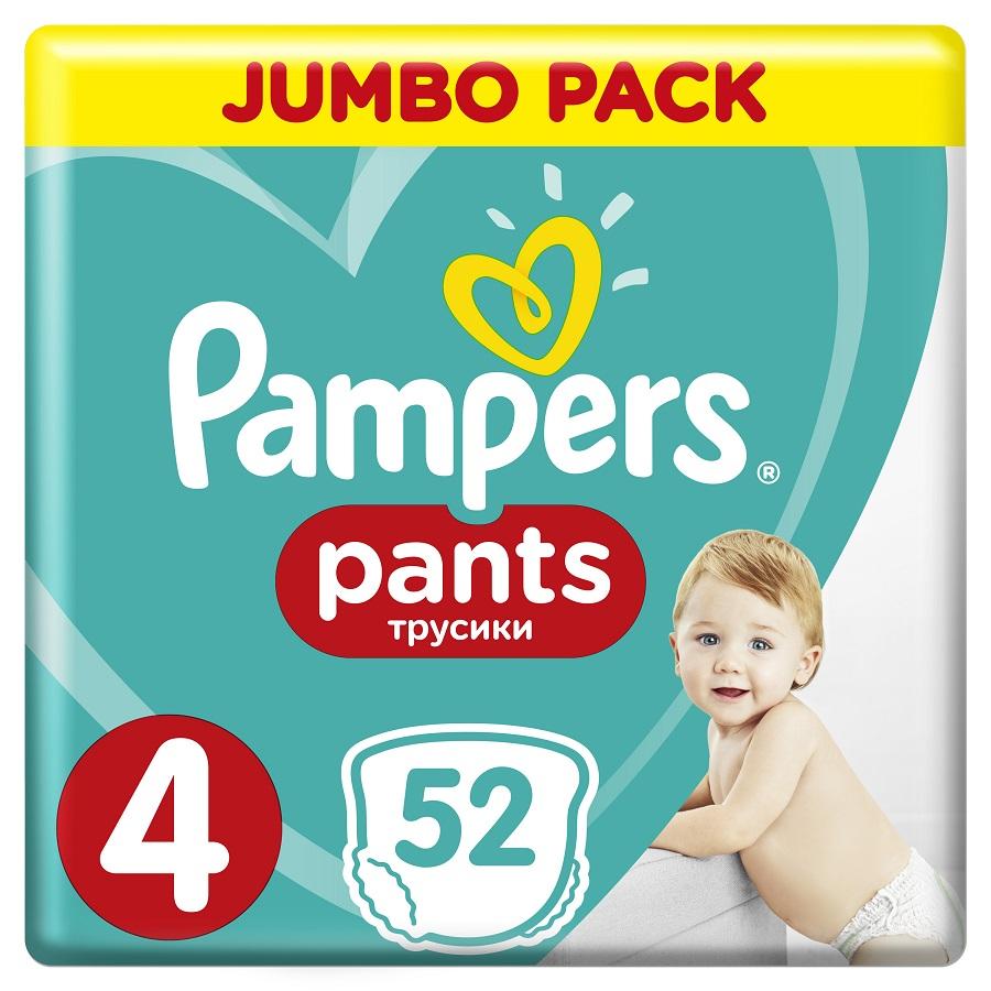 PAMPERS Pants No 4, 9-15kg Jumbo Pack - 52τμχ