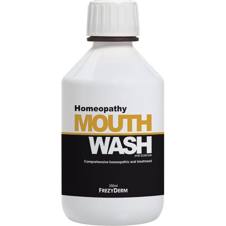 FREZYDERM Homeopathy Mouthwash, Στοματικό Διάλυμα Συμβατό με Ομοιοπαθητική - 250ml