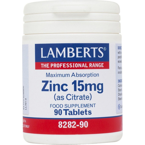 LAMBERTS Zinc 15mg(as Citrate) 90tabs